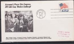 SPACE - USA - 1963  - KENNEDY// COOPER   ILLUSTRATED  COVER WITH WASHINGTN MAY 21 POSTMARK - Covers & Documents
