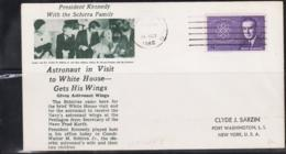 SPACE - USA - 1962 - MERCURY 8 / KENNEDY WITH SCHIRRA FAMILY COVER  WITH WASHINGTO  16 OCT 1962  POSTMARK - Covers & Documents