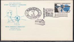SPACE - USA - 1975 -  PROJECT VANGUARD COVER WITH  WASHINGTON SEP 9  1975 POSTMARK - Covers & Documents