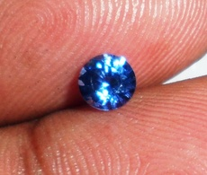 0.50 Ct Natural Blue Sapphire Faceted Gemstone   Round   Certified [0004] - Sapphire