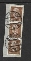 Germany, 50pf Strip Of 3 On Fragment Used BERLIN -C -2- 11.4.35 C.d.s. - Used Stamps