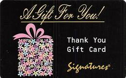 Signatures Gift Card (cardboard - Not Plastic) - Gift Cards