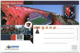 Entero Postal Correo Argentino Club Atletico Newell's Old Boys Rosario Estadio Futbol - Postwaardestukken