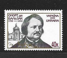 UKRAINE 1999 Balzac  YVERT N°366  NEUF MNH** - Ecrivains