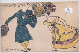 ILLUSTRATION- ABEL TRUCHET- L EMBOUTEILLAGE- 1904 - Illustrateurs & Photographes