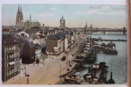 AK Köln Am Rheinufer Gebraucht #PD544 - Deutschland