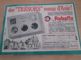 Page De Revue Des Années 60/70 : PUBLICITE PIERRES DE COLLECTION RUBAFIX , Format : 1/2 Page A4 - Other