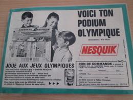 DIV415 : Clipping PLAQUETTES METALLIQUES NESQUIK PODIUM OLYMPIQUE 1964  -  Pour  Collectionneurs ... PUBLICITE  Dim A5 - Other
