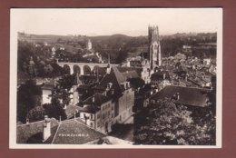 FRIBOURG - Partie Avec Cathédrale Et Pont - FR Fribourg