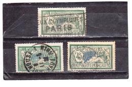 FRANCE   1907  Y.T. N° 143  Oblitéré  Voir Descriptif - 1900-27 Merson