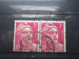 """VEND TIMBRES DE FRANCE N° 806 EN PAIRE , CACHET HEXAGONAL TIRETE """" LE BARCARES """" !!! - 1945-54 Marianne De Gandon"""