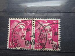 """VEND TIMBRES DE FRANCE N° 806 EN PAIRE , CACHET """" POSTE AUX ARMEES """" !!! - 1945-54 Marianne De Gandon"""