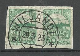 ESTLAND ESTONIA 1921 Michel 31 As A Pair O Viljandi Fellin - Estonie