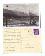 """Österreich, 1942, Ansichtskarte V. Presseggersee Mit Bahnpoststempel """"Villach - Kötschach - 11.6.1942 - ZugNr.923"""" (8961 - Austria"""