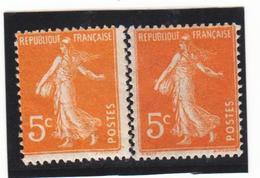 FRANCE   1921-22  Y.T. N° 158  Orange  NEUF*  Trace Infime De Charnière  Voir Descriptif - 1906-38 Semeuse Con Cameo