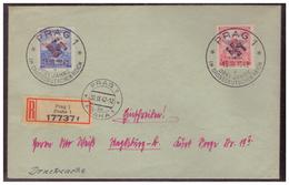 Böhmen Und Mähren (005588) Beleg FDC Mit MNR 83/ 84 Mit Sonderstempel 86 Drei Jahre Im Grossdeutschen Reich, Prag 1942 - Briefe U. Dokumente
