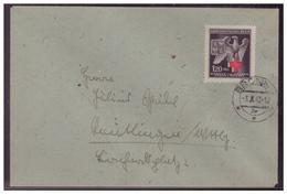 Böhmen Und Mähren (005592) Brief EF MNR 132 Rotes Kreuz Gelaufen Brünn Am 3.10.1943 - Briefe U. Dokumente