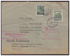 Böhmen Und Mähren (005598) Auslandsbrief - Schweiz Mit Viktoriastempel  Mit Zensur Gelaufen Prag 17.7.1941 - Briefe U. Dokumente