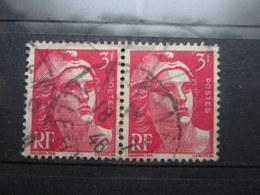 """VEND TIMBRES DE FRANCE N° 716 EN PAIRE , CACHET """" PARAME """" !!! - 1945-54 Marianne De Gandon"""