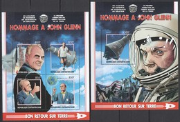 UU216 2017 CENTRAL AFRICA SPACE HOMMAGE TRIBUTE TO JOHN GLENN KB+BL MNH - Space