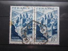 """VEND TIMBRES DE FRANCE N° 805 EN PAIRE , CACHET HEXAGONAL TIRETE """" ENQUIN-S-BAILLONS """" !!! - France"""