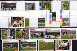 FIFA Championat 2006 Dahomey 9 Werte Plus ER-Marken ** 25€ Fußball-WM Hb Bloc Sets S/s Soccer Sheetlets Bf Football - Benin - Dahomey (1960-...)
