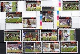 FIFA Championat 2006 AFGHANES 8 Werte Plus ER-Marken ** 30€ Fußball-WM Hb Bloc Sets S/s Soccer Sheetlet Bf Football - Afghanistan