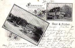 """Hannover, """"Das Neue Haus"""", Heut & Früher, 1901 Von Hannover Nach Göttingen Versandt - Hannover"""