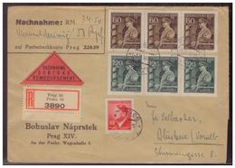 Böhmen Und Mähren (005601) Einschreiben Nachnahme Mit MNR 94, 136 Und 137 Gelaufen Prag Am 3.11.1944 - Böhmen Und Mähren