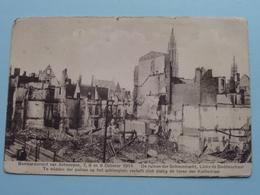 BOMBARDEMENT Antwerpen : 7, 8 & 9 October 1914 Ruines ( Zie Foto Voor Details ) Stamp Leiden 1931 > Oegstgeest ! - Guerre 1914-18