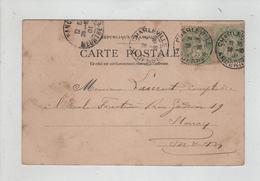 Généalogie Carte Précurseur 1901 Laurent Comptable Ecole Forestière  Nancy Paris Cirque Champs Elysées - Généalogie