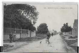 ASCOUX N 1841  Avenuede La Gare   Cycliste Chien Personnages   DEPT 45 - France