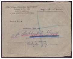 Portugal (005615) Mosambik Firmeneinschreiben Gelaufen Nach Leipzig Am 3.2.1933 - Mosambik