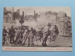 BOMBARDEMENT Antwerpen / Anvers 8 - 9 Oct 1914 Schoenmarkt - Marché Aux Souliers ( Zie Foto Voor Details ) ! - Guerre 1914-18