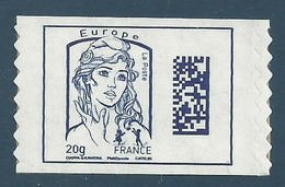YT A1176A - Marianne De Ciappa-Kawena - Europe 20g - Datamatrix - Issue De Carnet - 2013-... Marianne Of Ciappa-Kawena