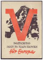 DT-Reich (005651) Propagandakarte, Deutschland Siegt An Allen Fronten Für Europa, Blanco Gestempelt Mit SST Wien Am 27.9 - Deutschland