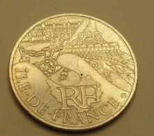 2011 - France - 10 EURO, Région Ile De France, Argent, Silver, KM 1739 - Francia