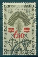 MADAGASCAR N° 286 Variété Point Virgule Dans La Surcharge .tirage:7200 Ex Cote 40 €. - Madagascar (1889-1960)