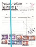 Factuur Facture - Brasserie - Brouwerij Lamot L. - Mechelen 1947 - Bélgica