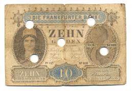 VILLE LIBRE ET IMPERIALE DE FRANCFORT - 10 FLORINS - 1855 - …-1871: Altdeutschland