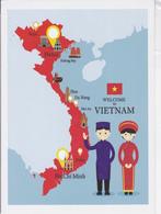 CARTE GEOGRAPHIQUE DU VIETNAM - ILLUSTREE - Maps