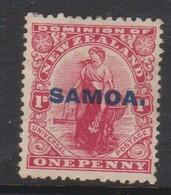 Samoa SG 116 1914 New Zealand Stamp Overprinted,one Penny Red,Mint Hinged - Samoa