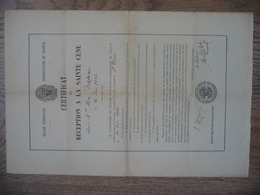 CERTIFICAT De RECEPTION A LA SAINTE CENE (Eglise Protestante De GENEVE) Le 12 JUIN 1886 - Religion & Esotérisme