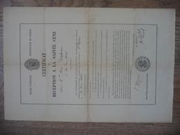 CERTIFICAT De RECEPTION A LA SAINTE CENE (Eglise Protestante De GENEVE) Le 12 JUIN 1886 - Religion & Esotericism