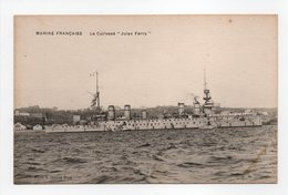- CPA MARINE MILITAIRE FRANCAISE - Le Cuirassé JULES FERRY - Photo H. Chalois - - Guerre