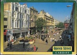 GALLES - GLAMORGAN - CARDIFF - QUENN STREET - VIAGGIATA VIA AEREA 1992 - Glamorgan