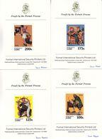 Zaïre - COB 1086 / 93  - 8 épreuves De Couleurs - Armée Du Salut-Musique-contrebas-Postier-Trompette-Gouvernail - Zaïre