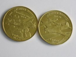 Agrikhan. 2 Coins On 5 Dollars. Planes. Messerschmitt Bf.109 And YAK-7. UNC. 2017 - Marianen