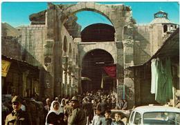 CPSM -SYRIE - DAMAS - La Mosquée Des Omayades - Entrée - Timbre Liban- - Syria
