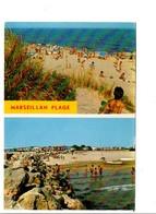 CPM MULTIVUES DE MARSEILLAN PLAGE HERAULT - Cartes Postales